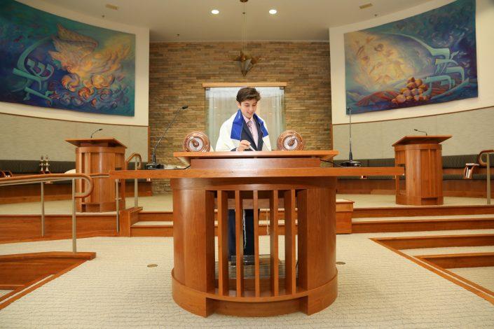 formal photo session in Beth El synagogue.
